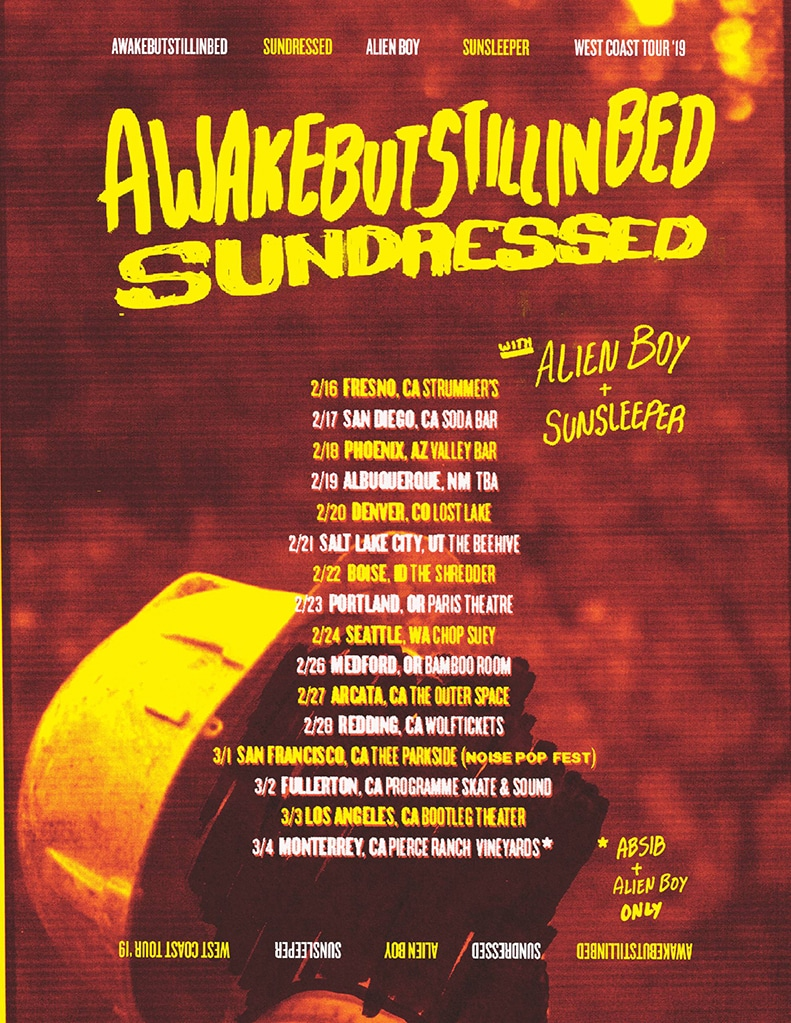Sundressed On Tour this February & March